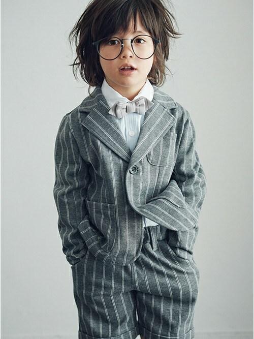 kladskap クレードスコープさんの「蝶ネクタイ付き長袖ベーシックシャツ(b-room)」を使ったコーディネート