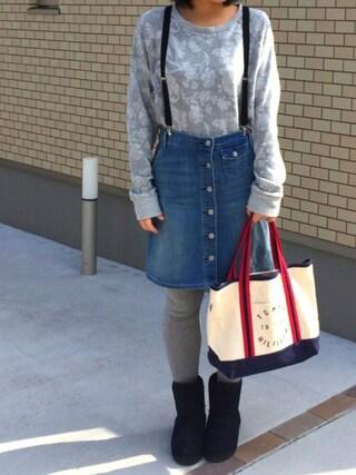 natsumi kunoさんの「WEGO/サスペンダー(WEGO|ウィゴー)」を使ったコーディネート