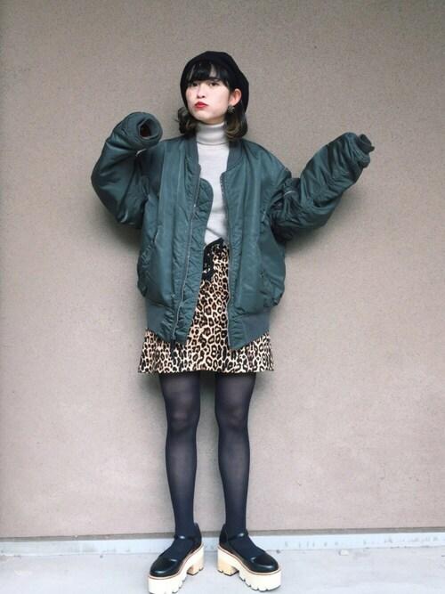 mekkoさんの「フロントレースアップスカート(jouetie)」を使ったコーディネート