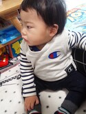 yuukiさんの「ベーシックボーダー長袖Tシャツ(RADCHAP|ラッドチャップ)」を使ったコーディネート