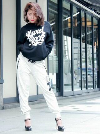 Hard Rock Cafe JAPAN|Hard Rock Cafe JAPANさんの「Rock League Hidden Pocket Pullover」を使ったコーディネート