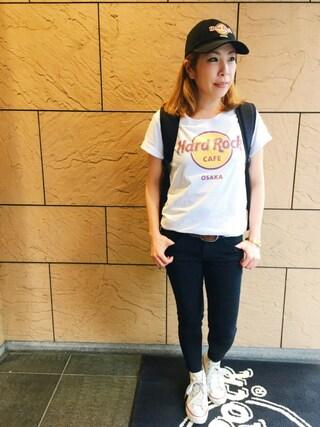 Hard Rock Cafe JAPAN Hard Rock Cafe JAPANさんの「Classic Logo T(Hard Rock Cafe ハードロックカフェ)」を使ったコーディネート