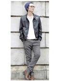 Hard Rock Cafe JAPANさんの「Men's Motor Jacket(Hard Rock Cafe|ハードロックカフェ)」を使ったコーディネート