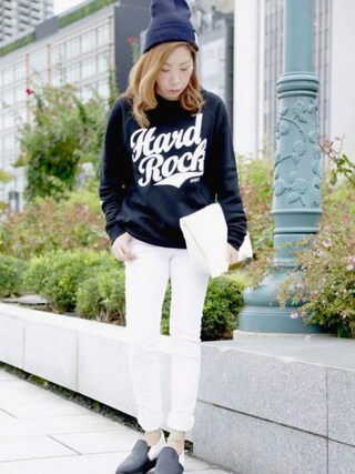 Hard Rock Cafe JAPAN|Hard Rock Cafe JAPANさんの「Rock League Hiddon Pocket Pullover(Hard Rock Cafe|ハードロックカフェ)」を使ったコーディネート