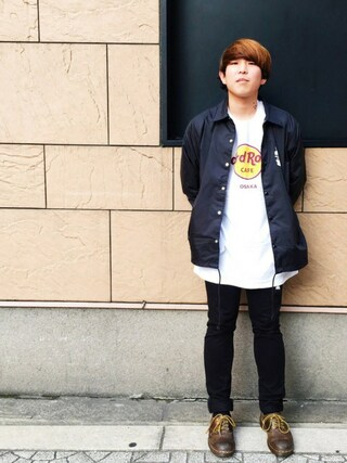 Hard Rock Cafe JAPAN|Hard Rock Cafe JAPANさんの「Classic Logo White T(Hard Rock Cafe|ハードロックカフェ)」を使ったコーディネート