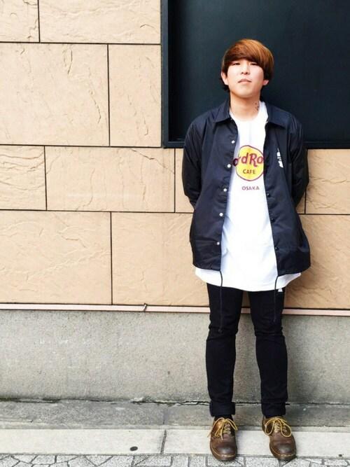 Hard Rock Cafe JAPANさんの「Classic Logo White T(Hard Rock Cafe)」を使ったコーディネート