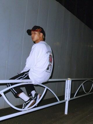 SHUNさんの「[バンズ]VANS  OLD SKOOL スニーカー(green label relaxing|グリーンレーベルリラクシング)」を使ったコーディネート