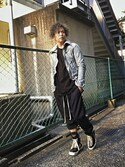 「Rick Owens Drop-Crotch Wool-Blend Trousers(Rick Owens)」 using this まも野郎 looks