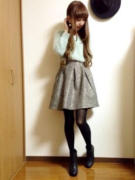 ayakaさんの「ジャガードフレアースカート(archives)」を使ったコーディネート