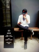「Qasa Leather-Trimmed Neoprene High-Top Sneakers(Y-3)」 using this 吳雨誠 looks