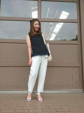RANDA 高松店|misako yanoさんの「ハイヒールミュールサンダル(RANDA)」を使ったコーディネート