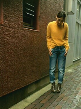 RANDA 高松店|misako yanoさんの「チャンキーヒールショートブーツ(RANDA)」を使ったコーディネート