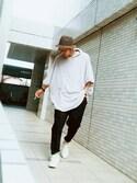 虫コロリけんたさんの「mcg1888 - Cashmere Touch Knit Poncho ポンチョ(MADE IN JAPAN)(ANGENEHM|アンゲネーム)」を使ったコーディネート