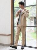 junya_kasugaさんの「【XL展開】テーラードジャケット/727354(BLISS POINT|ブリスポイント)」を使ったコーディネート
