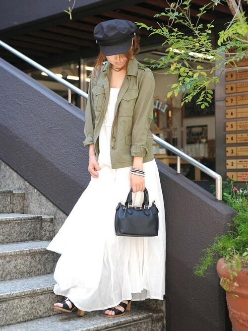 chikaさんの「【PLAIN CLOTHING】切り替えキャミワンピース(PLAIN CLOTHING)」を使ったコーディネート