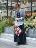 chikaさんの「3連ブレスレット/レザーブレスレット【PLAIN CLOTHING】(PLAIN CLOTHING|プレーンクロージング)」を使ったコーディネート