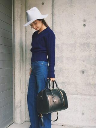 伊地知朋子さんの「Lee×k3&co. slender pants(k3&co|ケイスリーアンドコ)」を使ったコーディネート