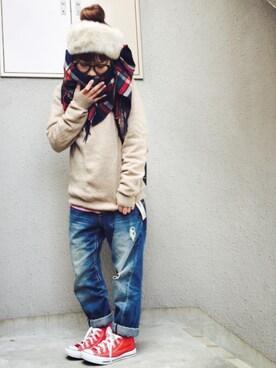872@ヌコさんの「【予約】Cableami×BEAMS BOY / ファー ヘアバンド 15FW(BEAMS BOY)」を使ったコーディネート