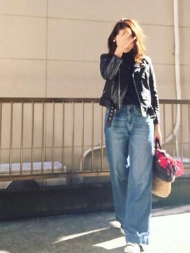hito.wearさんの「【追加予約】別注<beautiful people> ライダースジャケット -2015FW †(beautiful people)」を使ったコーディネート