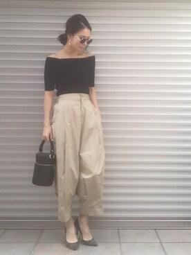 emaemiさんの「Light tuck pt(BLACK BY MOUSSY)」を使ったコーディネート