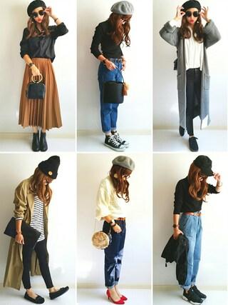 Ayumiさんの「ファーショルダーバッグ【PLAIN CLOTHING】(PLAIN CLOTHING|プレーンクロージング)」を使ったコーディネート