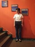 hamasaki chifumiさんの「T-shirt brode A.P.C. P13(A.P.C. アー・ペー・セー)」を使ったコーディネート