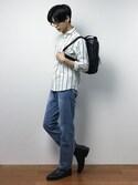 青山友さんの「5P DENIM PANTS/5ポケットデニムパンツ(Denime|ドゥニーム)」を使ったコーディネート