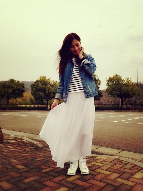 白のロングスカート