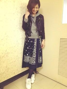 安田美沙子さんの(ACNE|アクネ)を使ったコーディネート