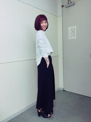 安田美沙子さんの(CLANE|クラネ)を使ったコーディネート