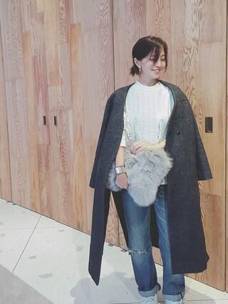 安田美沙子さんの「[WRAPINKNOT / ラッピンノット] フライングフリンジニットプルオーバー(WRAPINKNOT|ラッピンノット)」を使ったコーディネート