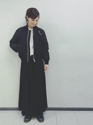 安田美沙子さんの(Sacai|サカイ)を使ったコーディネート