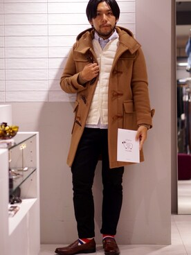 ABAHOUSEクレフィ三宮店|MSRさんのダッフルコート「プレミアムウール MELTON duffle coat(ABAHOUSE|アバハウス)」を使ったコーディネート
