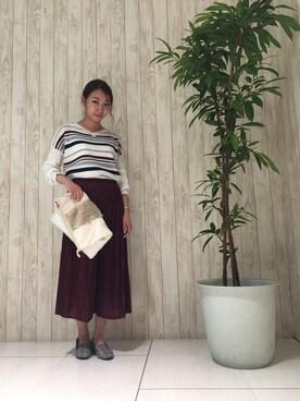 SHOO・LA・RUE|Miki.oさんの「3WAY2連ショートネックレス(DRESKIP)」を使ったコーディネート