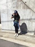 アサミ☆さんの「Suede Fabric Casual Messenger XS(Manhattan Portage マンハッタンポーテージ)」を使ったコーディネート