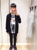 「Black Technical Fabric Bomber Jacket(Topman)」 using this mryu1chun looks