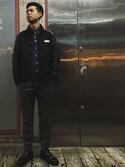 永島秀都さんの「Bentley Cravats/ベントレー・クラバッツ レジメンタルストライプタイ RED(BENTLEY CRAVATS|ベントレークラヴァッツ)」を使ったコーディネート