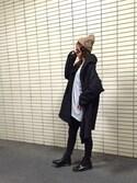 nao☆さんの「コクーンシルエットビッグカットソー(reca|レカ)」を使ったコーディネート