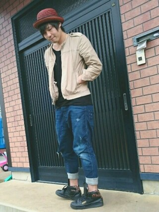 「Diesel Jeans Tepphar-A-UL Skinny Fit All Over Camo Print(Diesel)」 using this 後藤 looks