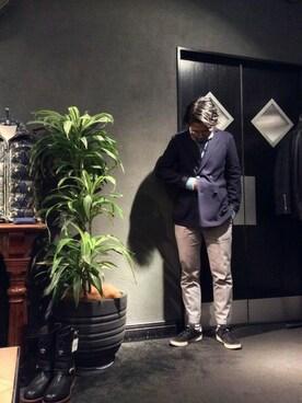 RAWLIFE 六本木店|keitaさんの「Raw+/ロゥタス/ダブルブレスト ストレッチ ジャケット(Raw+)」を使ったコーディネート
