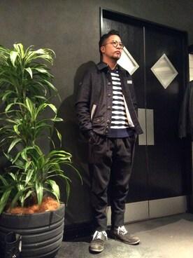 RAWLIFE 六本木店|keitaさんの「Due Soli/ドゥ ソリ/ウールブルゾン -Dandy-(RAWLIFE)」を使ったコーディネート