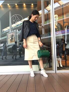 ビューティ&ユース ユナイテッドアローズ 川崎店|Maki Enomotoさんの(CONVERSE|コンバース)を使ったコーディネート
