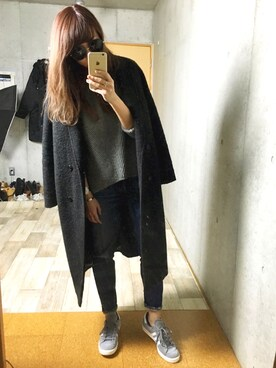 mncさんの「WOOL-BLEND DOUBLE BREASTED CT(MOUSSY|マウジー)」を使ったコーディネート