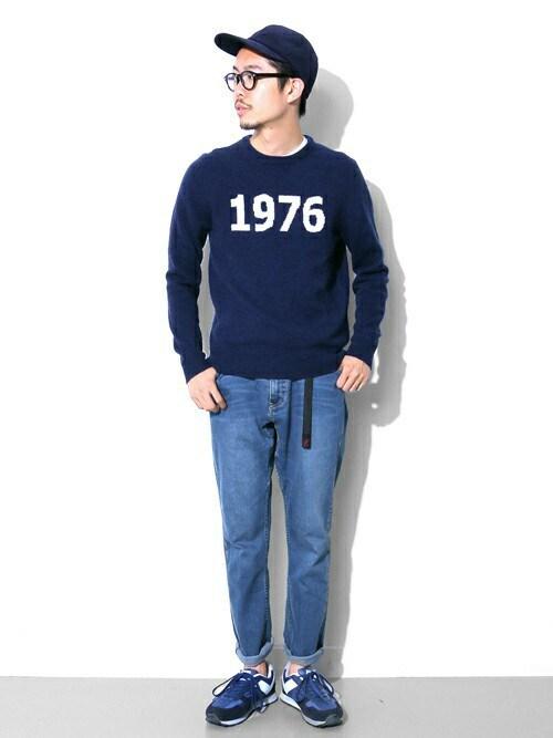 エグチさんの「Mt Design 3776 x Gramicci 別注デニムMountain Pants(URBAN RESEARCH DOORS MENS)」を使ったコーディネート