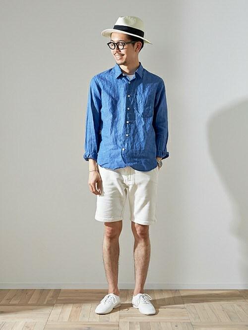 URBAN RESEARCH DOORS | エグチさんのシャツ/ブラウス「URBAN RESEARCH DOORS MENS DOORS Linen L/S Shirts」を使ったコーディネート
