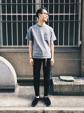 URBAN RESEARCH DOORS|エグチさんの「DOORS ポンチ Pocket Tee(URBAN RESEARCH DOORS MENS)」を使ったコーディネート