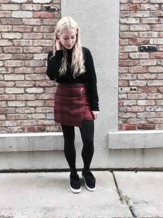 「Free People Teenage Crush Plaid Miniskirt(Free People)」 using this Shauna Jacobs looks