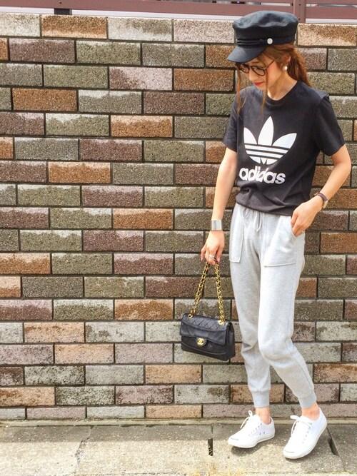asukaさんの「【adicolor】オリジナルス ロゴTシャツ [ORIG TREFOIL TEE](adidas)」を使ったコーディネート