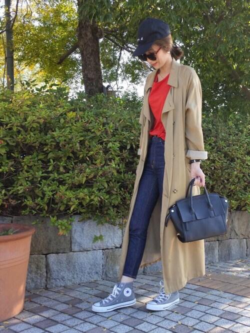 asukaさんの「【PLAIN CLOTHING】2WAYフラップハンドバッグ(PLAIN CLOTHING)」を使ったコーディネート
