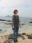 「Topshop Moto 'Joni' High Rise Skinny Jeans (Bright Blue) (Short)(Topshop)」 using this Zaria小小 looks